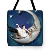 Paper Moon Tote Bag by Linda Lees