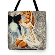 Papillon Art - Una Parisienne Movie Poster Tote Bag by Sandra Sij