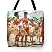 Papua New Guinea Cultural Show Tote Bag by Carol Mallillin-Tsiatsios
