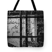 Paris Peace Wall Tote Bag by Georgia Fowler