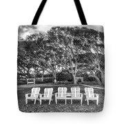 Park Under The Oaks Tote Bag by Debra and Dave Vanderlaan