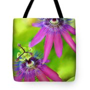 Passiflora Piresii Vine  - Passiflora Twins Tote Bag by Michelle Wiarda