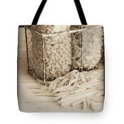 Pasta Sepia Toned Tote Bag by Edward Fielding