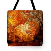 Path Of Gold Tote Bag by Tami Quigley