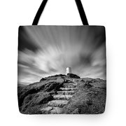 Path to Twr Mawr Lighthouse Tote Bag by Dave Bowman
