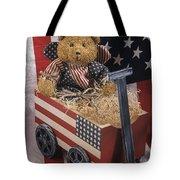 Patriot Bear Tote Bag by Sharon Elliott