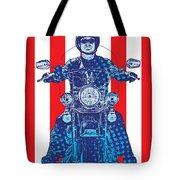 Patriotic Cycle Rider Tote Bag by Gary Grayson
