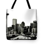 Patriotic Seattle Tote Bag by Benjamin Yeager