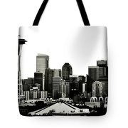 Patriotic Seattle Tote Bag by Benjamin Yeager