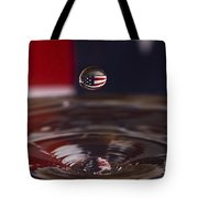Patriotic Water Drop Tote Bag by Anthony Sacco
