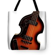 Paul McCartney Hofner Bass  Tote Bag by Bill Cannon
