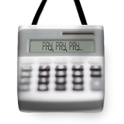 Pay Pay Pay Tote Bag by Michal Boubin