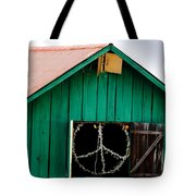 Peace Barn Tote Bag by Bill Gallagher