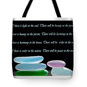 Peace In The World Tote Bag by Barbara McMahon