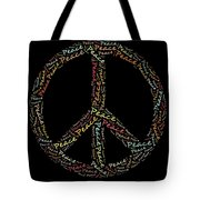 Peace Symbol - 0202 Tote Bag by Variance Collections
