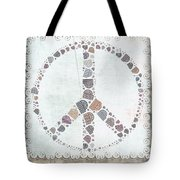 Peace Symbol Design - s76at02 Tote Bag by Variance Collections