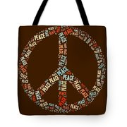 Peace Symbol Retro - 0103b  Tote Bag by Variance Collections