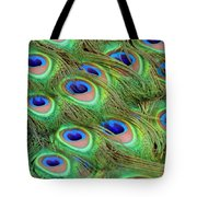 Peacock Feather Cascade Tote Bag by Angelina Vick