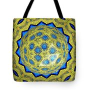 Peacock Feathers Under Polyhedron Glass 3 Tote Bag by Rose Santuci-Sofranko