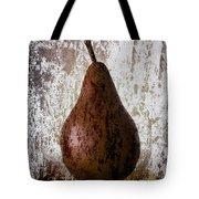 Pear On The Rocks Tote Bag by Carol Leigh