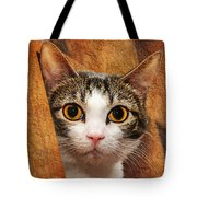 Peek A Boo I See You Tote Bag by Andee Design