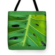 Peekaboo Leaf Tote Bag by Ann Horn
