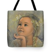 Pensive - Angel 22 Tote Bag by Dorina  Costras