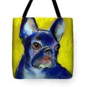 Pensive French Bulldog portrait Tote Bag by Svetlana Novikova