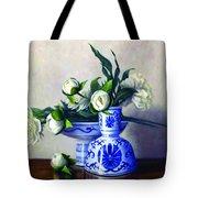Peony Blossoms Tote Bag by Rick Hansen