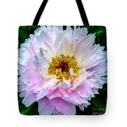 Peony Flower Tote Bag by Edward Fielding