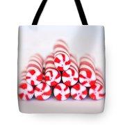 Peppermint Twist - Candy Canes Tote Bag by Kim Hojnacki