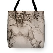 Persecution Sketch Tote Bag by Jani Freimann