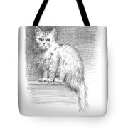 Persian Cat Tote Bag by Sarah Parks