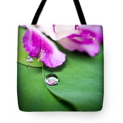 Peruvian Lily Raindrop Tote Bag by Priya Ghose