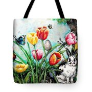Peters Easter Garden Tote Bag by Shana Rowe Jackson
