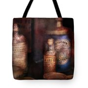 Pharmacist - Medicine For Diarrhea And Burns  Tote Bag by Mike Savad