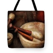 Pharmacy - Back to the grind Tote Bag by Mike Savad