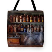 Pharmacy - Master Of Many Trades  Tote Bag by Mike Savad