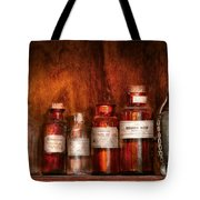 Pharmacy - Pharmacist's Fancy Fluids Tote Bag by Mike Savad