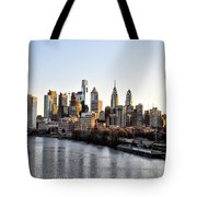 Philadelphia In The Morning Light Tote Bag by Bill Cannon