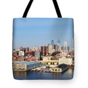Philadelphia River View Tote Bag by Bill Cannon