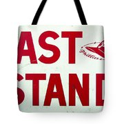 Phillies East Stand Sign - Connie Mack Stadium Tote Bag by Bill Cannon