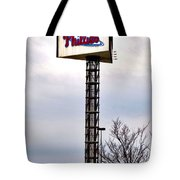 Phillies Stadium Sign Tote Bag by Bill Cannon