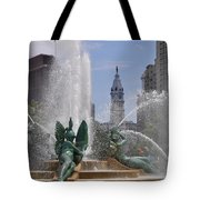 Philly Fountain Tote Bag by Bill Cannon