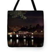 Philly Waterworks At Night Tote Bag by Bill Cannon