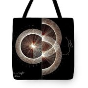 Photon Double Slit Test Hand Drawn Tote Bag by Jason Padgett