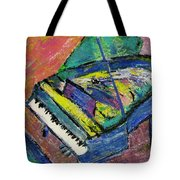 Piano Blue Tote Bag by Anita Burgermeister