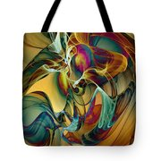 Picked Up By The Wind Tote Bag by Klara Acel
