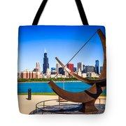 Picture Of Chicago Adler Planetarium Sundial Tote Bag by Paul Velgos