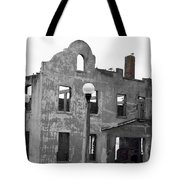 Pieces Of Alcatraz Island Tote Bag by Cheryl Young